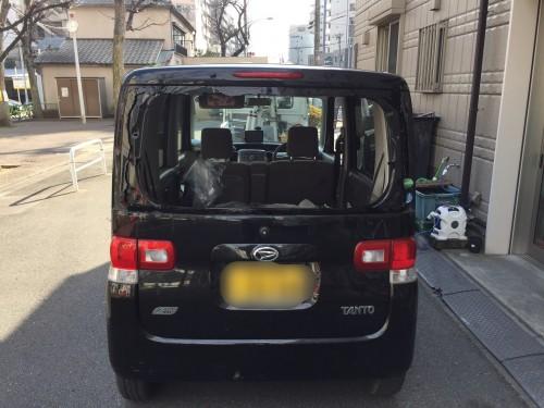 ダイハツ タント リアガラス交換 | 東京都台東区の祖山硝子商会